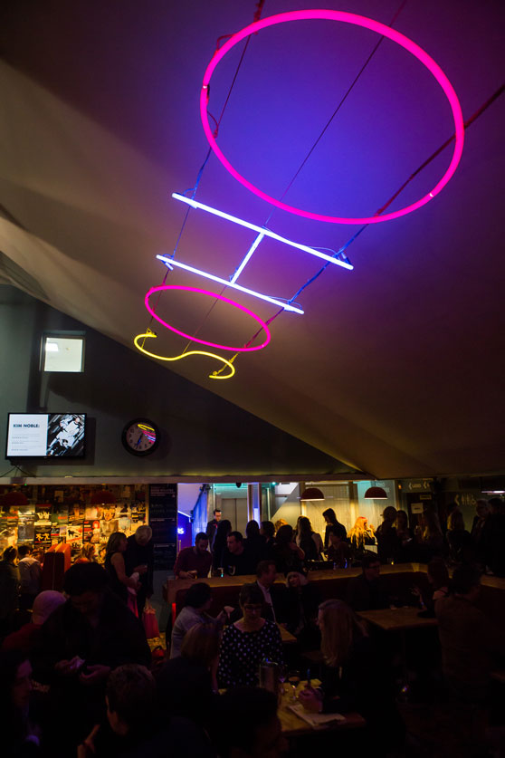 Soho theatre bar soho theatre its cool blue neon lights front of house caf and late night shows may blend it into the soho landscape but since taking up residence on dean street in aloadofball Image collections