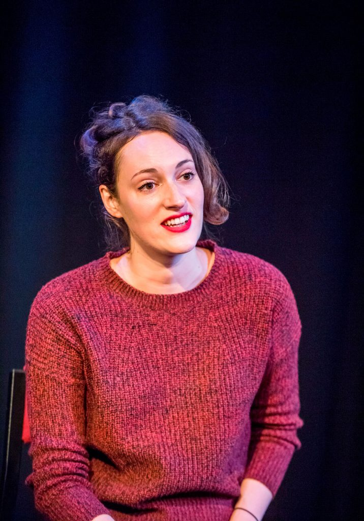 Fleabag---Phoebe-Waller-Bridge---sitting---Soho-Theatre---Photo-credit-Tristram-Kenton