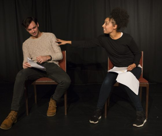Natasha Marshall in a reading of her debut play Half Breed.