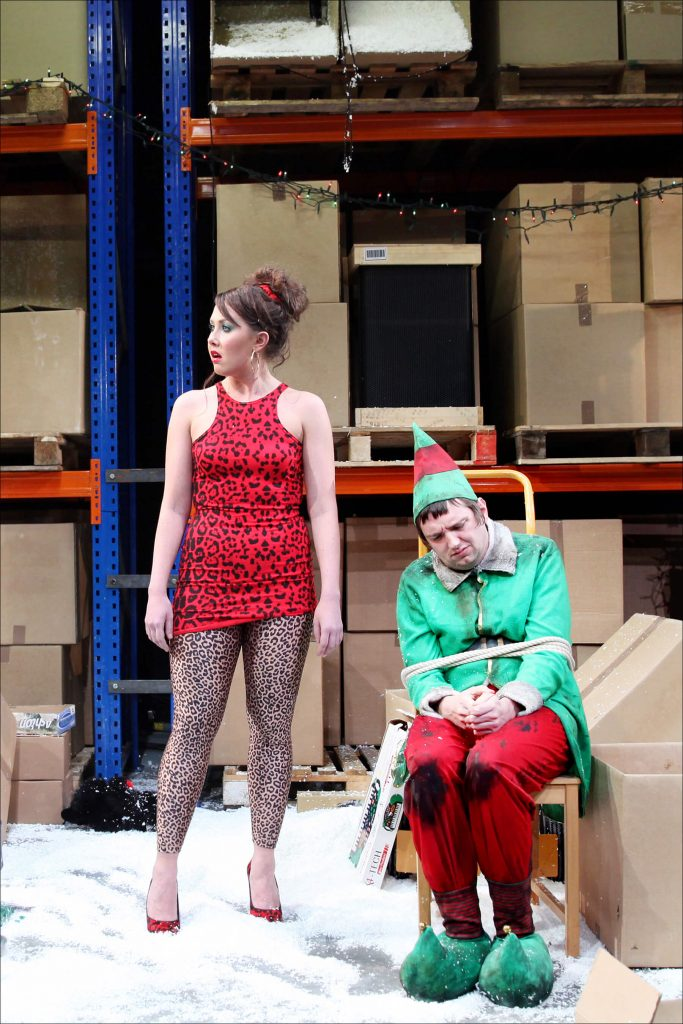 Rebecca Atkinson and Craig Gazey in The Night Before Christmas, 2013. - Photography by Sheila Burnett.