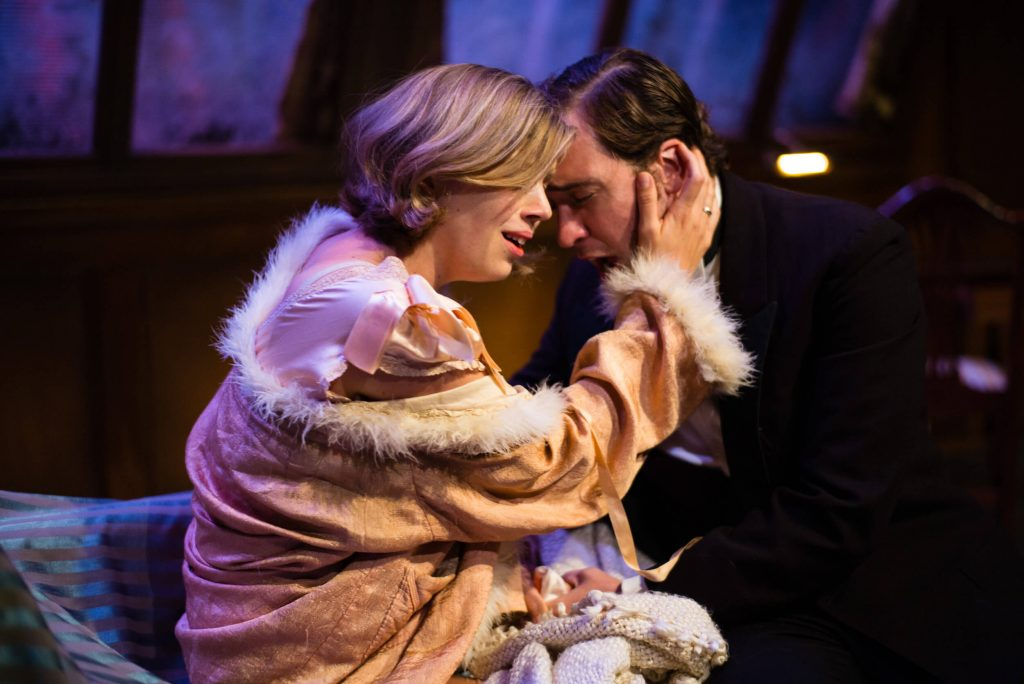 La Traviata - Prudence Sanders (Violetta) and Robin Bailey (Alfredo) - photo by Christopher Tribble - 2