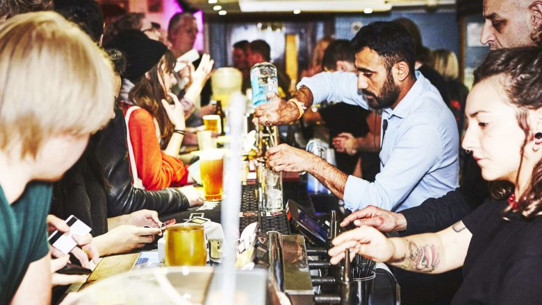 Soho Theatre Bar busy with customers (2)