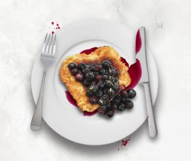 Blueberry Toast Website Holding Image