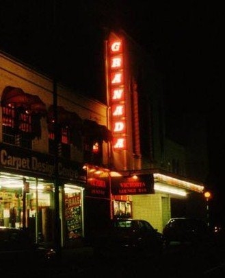Walthamstow Granada exterior (night) 80s