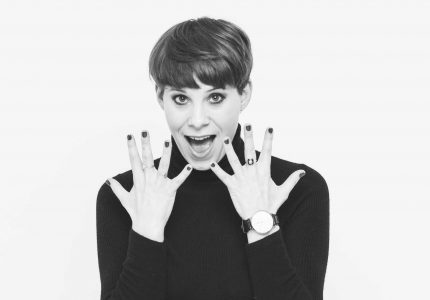 publicity image of Suzi Ruffell for the comedy show Dance Like Everyone's Watching