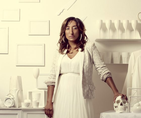 publicity image of Shazia Mirza for the comedy show Coconut