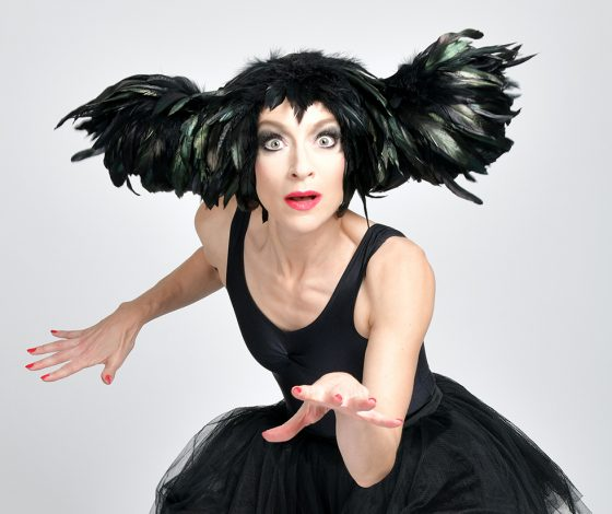 publicity image of Sarah-Louise Young for the cabaret show An Evening Without Kate Bush