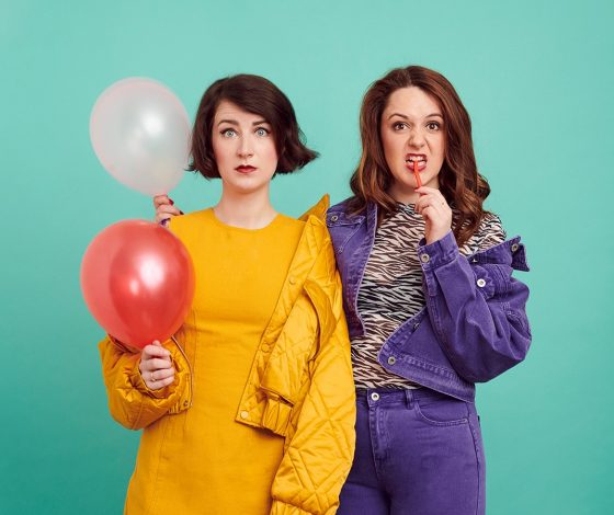 publicity image of Stiff & Kitsch for the comedy show Bricking It