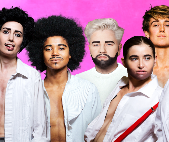 publicity image of Pecs in the cabaret show The Boys Are Back In Town