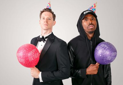 publicity image for the musical comedy show String V SPITTA
