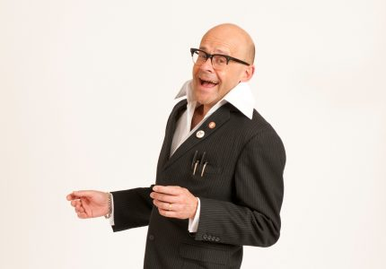 publicity image of Harry Hill for the show Work in Progress