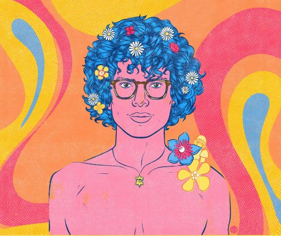 publicity image of Simon Amstell for the comedy show Spirit Hole