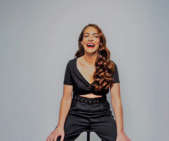 publicity image of Esther Manito for the comedy show Esther Manito: #NotAllMen