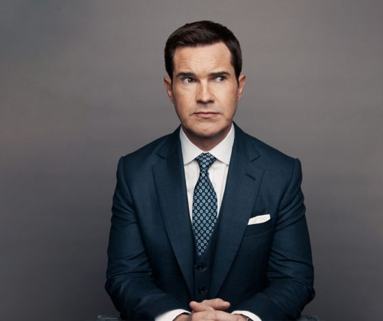 publicity image of Jimmy Carr for his Work in Progress comedy show