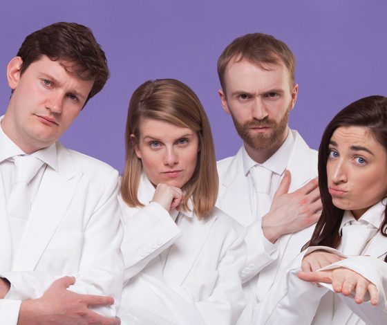 publicity image of comedy troupe Just These Please for the sketch show No Worries If Not