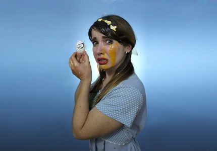 publicity image of Natalie Palamides for the comedy show Laid