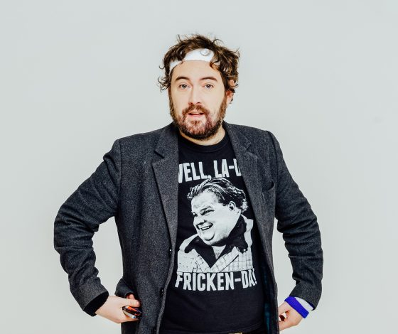 publicity image of Nick Helm for the comedy show Masterworks In Progress 2021