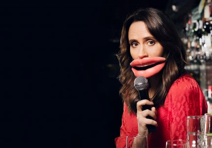 publicity image of Nina Conti for the comedy show The Warm-Up Show