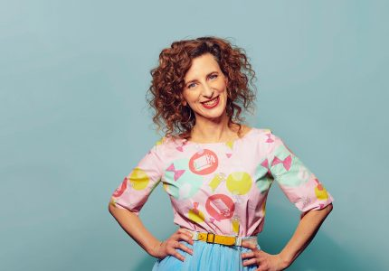 publicity image of Felicity Ward for the comedy show Felicity Ward: THE MOTHER F*CKING TRILOGY