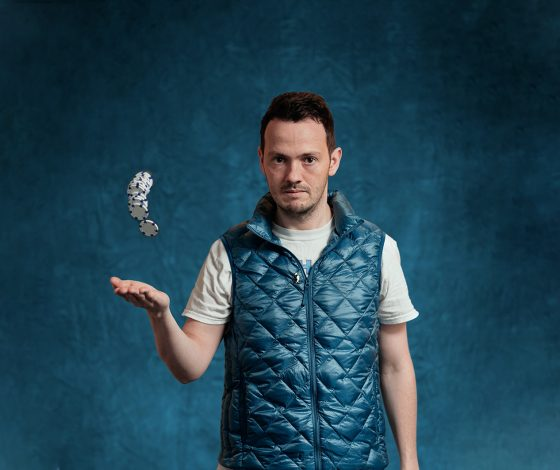 publicity image of Stuart Laws for the comedy show Stuart Laws is All In